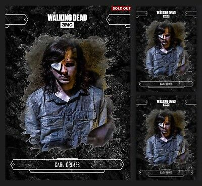 3x CARL GRIMES-ECHOES-BLACK-TOPPS WALKING DEAD CARD TRADER
