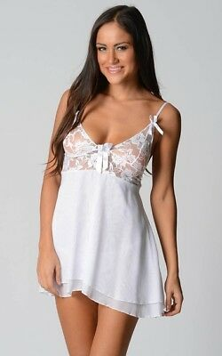 Wedding Night Babydoll Lingerie Set sizes 6 8 10 12 14 16 18 20 22 Colour White