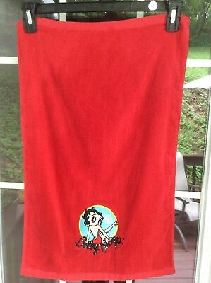 New Betty Boop Red Hand Towel