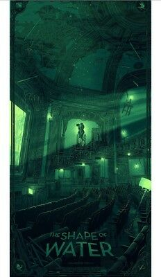 Mondo The Shape of Water Print 2018 SDCC Exclusive by Daniel Danger Signed And #