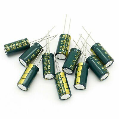 10pcs Sanyo 1000uF 35V Radial Electrolytic Capacitors Low ESR Lot