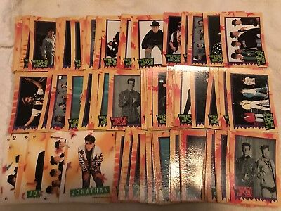 New Kids on the Block - Complete 88 trading card set with 11 stickers from 1989