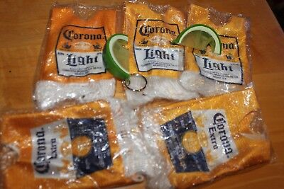 Corona Light Extra Cinco Beer Ponchos Bottle Covers x5 & Lime Openers x2