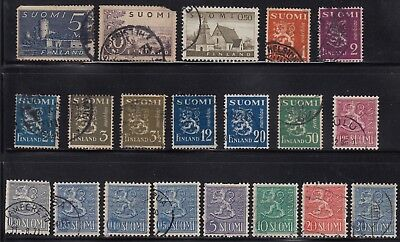 Finland group of early stamps