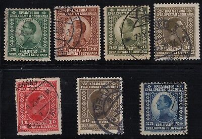 Kingdom of Serbia, Croatia and Slovenia 1920's group of stamps