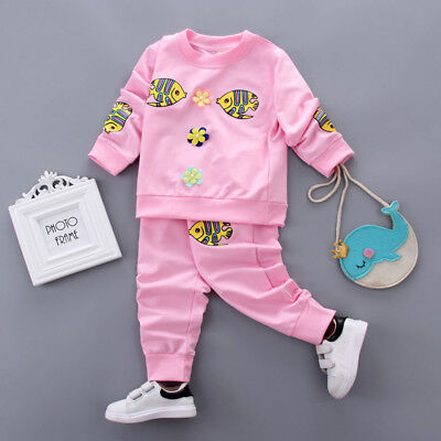 Baby Girls Clothes Suits Kids Infant Girl Outfits Clothing Sets T-shirt + Pants