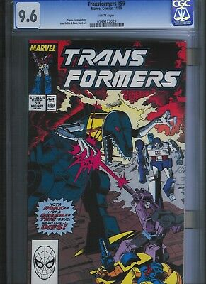 Transformers # 59 CGC 9.6  White Pages. UnRestored.
