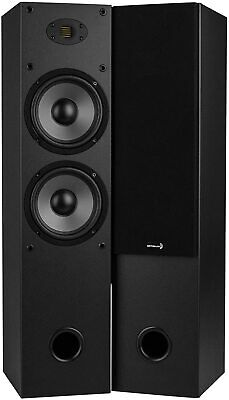 """Sold in Pairs - High Quality Sound Home Audio 2-Way Dual Tower Speaker 6-1/2"""""""