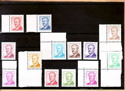 SYRIA PRESIDENT ASSAD 2 MNH SETS 29 STAMPS (with color error 150P) 1986-90 RARE