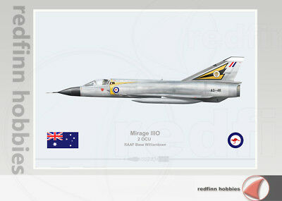 Warhead Illustrated Mirage IIIO 2 OCU RAAF A3-48 Aircraft Print
