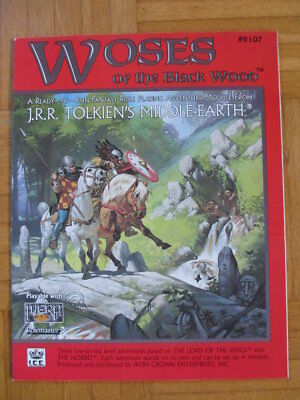 WOSES OF BLACK WOOD Middle-Earth MERP #8107 - English frpg lotr lord rings mers
