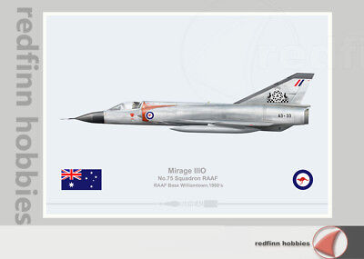 Warhead Illustrated Mirage IIIO 75Sqn RAAF Williamtown A3-33 Aircraft Print