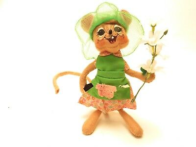 ANNA LEE Spring Gardner MOUSE flowers 2009 AA1D518