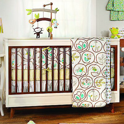 Living Textiles Animal Tree Bumper Cot Set