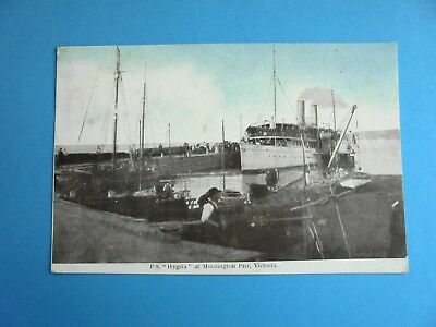 P.s. Hygeia At Mornington Pier Victoria Dated 1906 Paddle Steamer Postcard