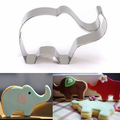 New Baby Elephant Biscuit Cake Cookie Mold Cutter Mould Cutting Metal Girls Boys
