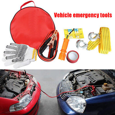 Roadside Emergency Kit Portable Auto Set Car Tool Bag 6 Piece Vehicle Safety Kit
