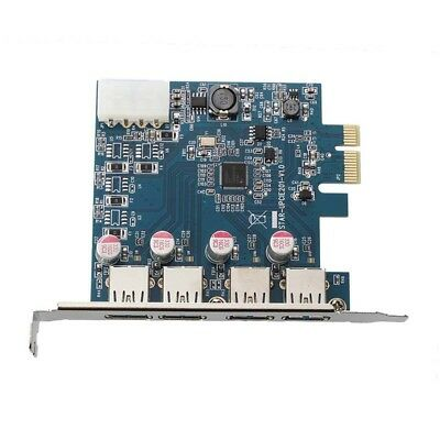 USB 3.0 4-Port PCI-Express PCI E-Karte Super Speed 5 Gbps mit 4 Pin Power A L4L7