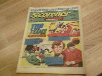 1971 Scorcher And Score Comic Aberdeen Football Club On Cover  Top Teams Series
