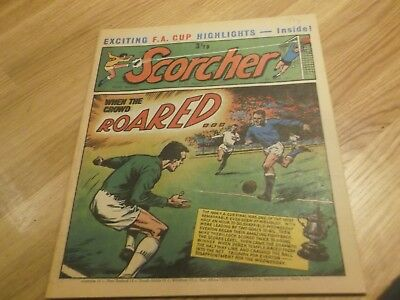 1971 Scorcher And Score Comic 1966 Fa Cup Final On  Cover  Everton V Sheff Weds