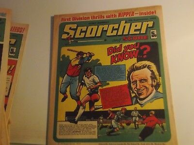 1974 Scorcher And Score Comic  Featuring The Great Stan Bowles Of Qpr