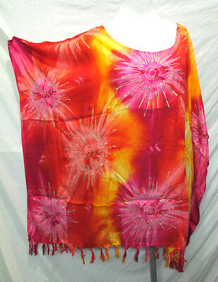 puls size new  design Bali collection for semer  gold printed kaftan top ponche