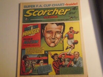1973 Scorcher And Score Comic Malcolm Allison Of Crystal Palace  On Cover