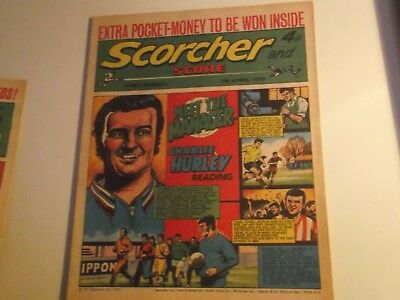 1973 Scorcher And Score Comic Charlie Hurley Of Reading  Football Club On Cover