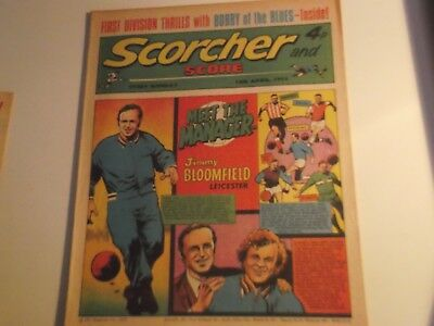 1973 Scorcher And Score Comic Jimmy Bloomfield Of Leicester City On Cover