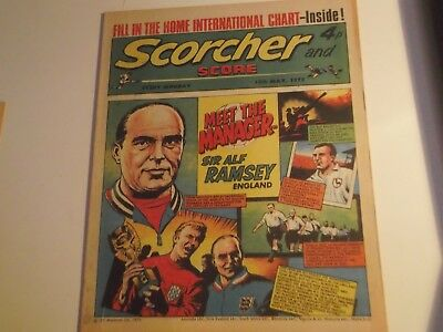 1973 Scorcher And Score Comic Sir Alf Ramsey 1966 World Cup Manager  On Cover