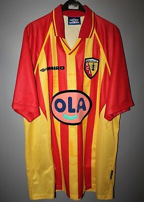 Rc Lens France Home Football Shirt Jersey Maillot Umbro Size Xl 1998 1999