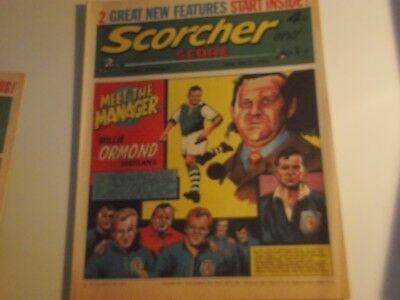 1973 Scorcher And Score Comic Willie Ormond Scotland Football Manager  On Cover