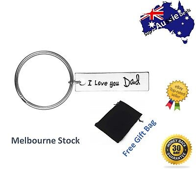 Father's Day Gifts I Love You Dad Dad My Hero Best father Keychain Key tag