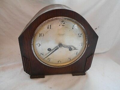 Shabby Chic VINTAGE 1930s Mantel CLOCK 1930s ART DECO by INGERSOLL Legion 8 Day