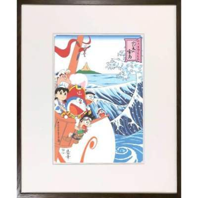 Doraemon Ukiyoe Woodblock Print Special Ver Super Rare Item Fuji Framing New