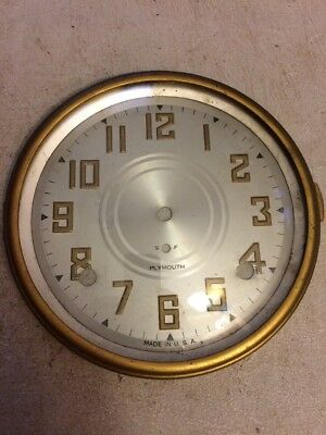 Seth Thomas Plymouth Arch Mantle Clock Dial And Bezel With Glass From 89 I