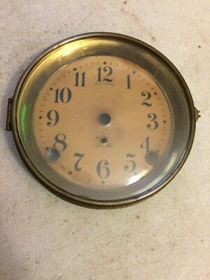 Seth Thomas Cathedral Arch Mantle Clock Dial & Bezel & Glass From 89C Movement