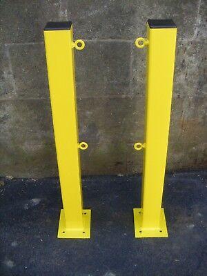 X2 security bolt down bollards security post with eyelets