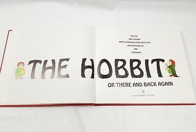 The Hobbit Or There and Back Again 1989 Illustrations from Film HC Storybook