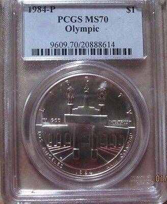 1984 P PCGS MS 70 $1 Olympic Commemorative Silver Dollar