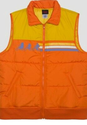 STRANGER THINGS Vintage Retro 80s Style Jacket PUFFER VEST Men's XL NETFLIX New