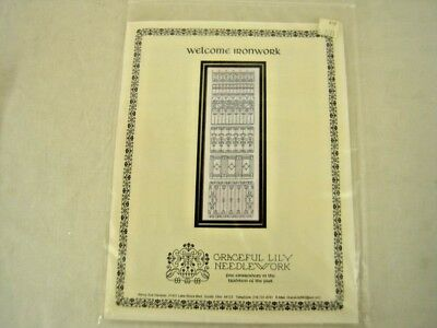 "BEAUTIFUL embroidery ""Welcome Ironwork"" PATTERN ONLY - Graceful Lily Needlework"