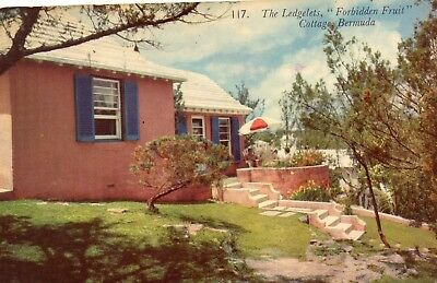 THE LEDGELTS COTTAGES   BERMUDA  postally used 1956