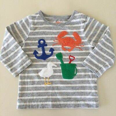 "Mini Boden AWESOME Baby Boys ""BEACH"" Long Sleeve Shirt. 3-6 Months NWNT!! RARE!!"