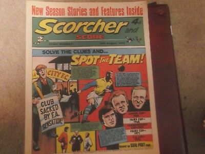 1973 Scorcher And Score Comic Leeds United On Cover In Spot The Team