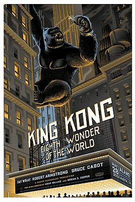 King Kong poster by Laurent Durieux LE hand numbered print