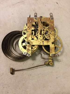 Antique Sessions Tambour Mantle Clock Movement Dual  Strike