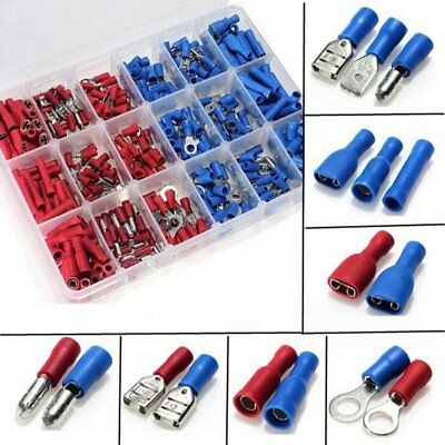 360pcs Insulated assorted Electrical Wire Terminal Crimp Connector Spade Set Kit