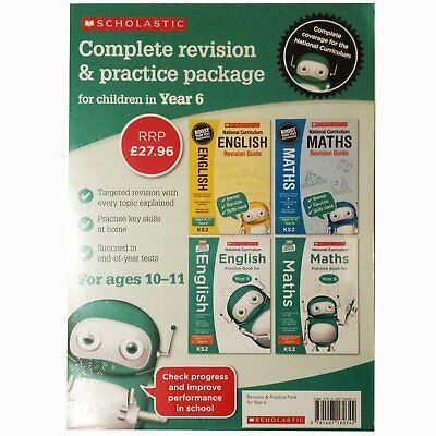 National Curriculum Revision For Year 6 Maths English 4 Books Collection