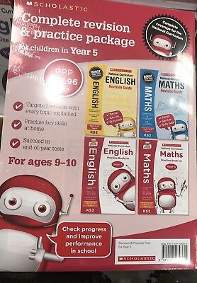 National Curriculum Revision For Year 5 Maths and English 4 Books Collection